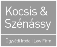 Kocsis & Szénássy Law Firm, Intellectual Property, English & German, Budapest, Hungary